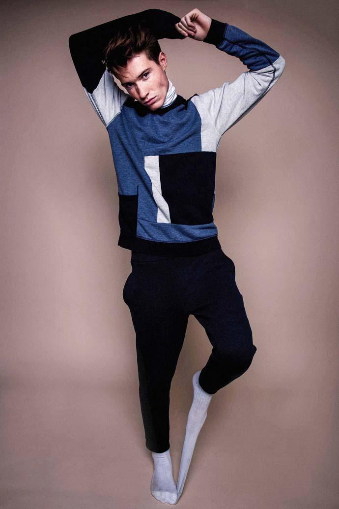 Jumper: Scotch and Soda, Turtle Neck: Cos, Trousers: Libertine Libertine, Socks: Nike
