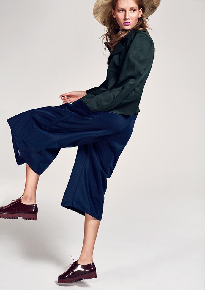 Hat: Tiger of Sweden Trousers: Adidas Jacket: J.Lindeberg Shoes: Jennie Ellen
